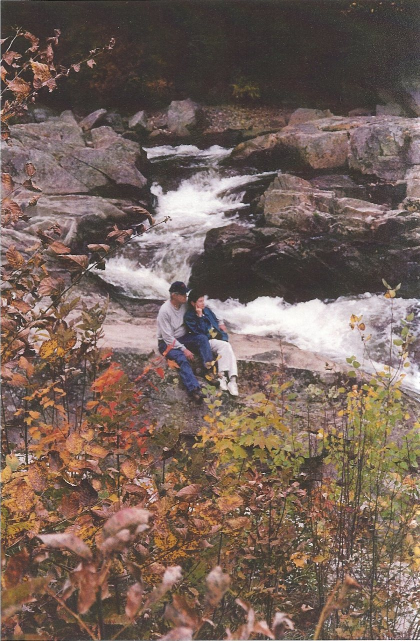 Couple at Jackson Falls